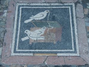 Bird mosaic at Pompeii
