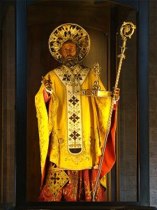 Statue of Saint Nicholas in Bari's basilica