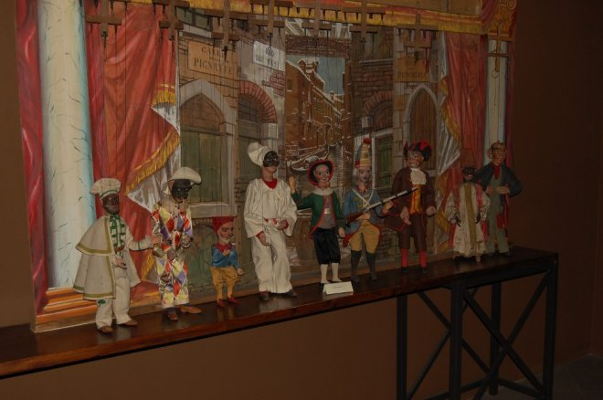 Commedia d'arte, with puppets