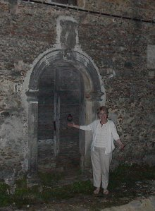My mom, Win Perman, at the door to the Palazzo Gualtieri in Scigliano.