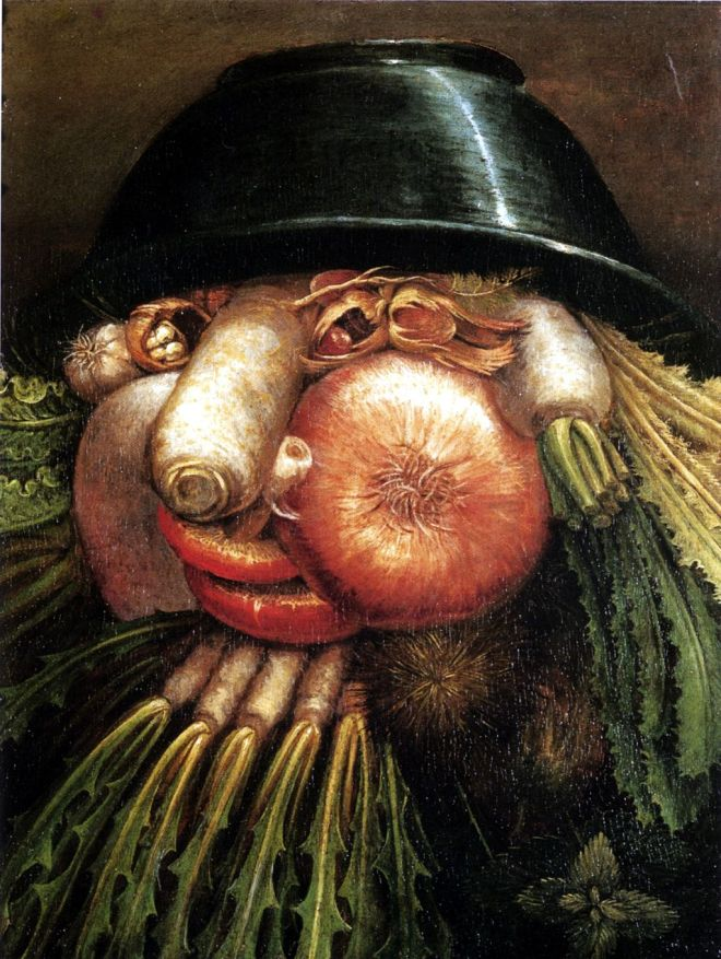 The Greengrocer by Giuseppe Arcimboldo (16th century). Image from Wikimedia Commons.