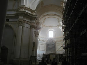 Touring the abbey, September 2004