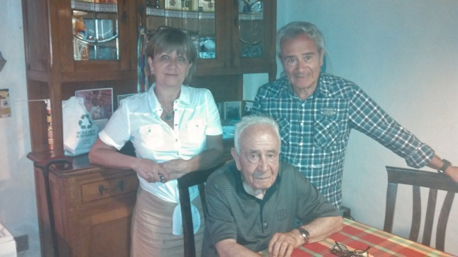 Our Italian cousins: Anna Maria, Francesco, and their father Ottavio.