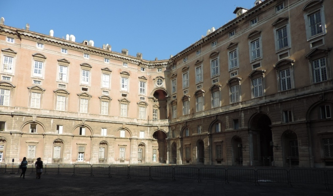 One of the four massive courtyards inside the royal palace.